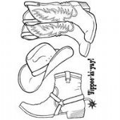 Woodware - Cowboy Boots  - Clear Magic Stamp Set - JGS431